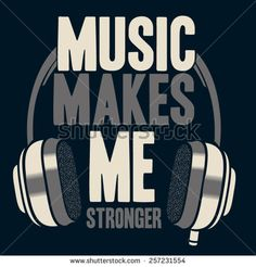 music slogan - stock vector