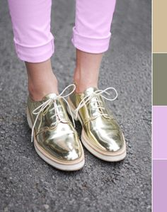 gold kicks    Senso made some sweet silver ones