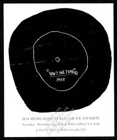1994 Jean-Michel Basquiat Now's The Time NYC gallery vintage print ad