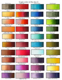 Copic Blends - Love this! So useful.