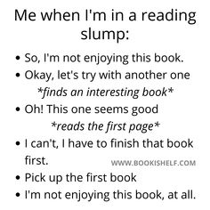 Reading Slump, Books To Read, My Books, Writing A Book Review, The Best Series Ever, Book Memes, Dark Matter, Can't Stop Laughing, Inspirational Books