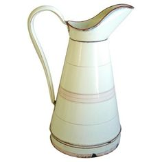 Check out this item at One Kings Lane! 1940s French Graniteware Pitcher