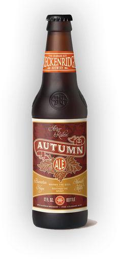 Autumn inspired. #beer #labeldesign | Breckenridge Brewery - Autumn Ale