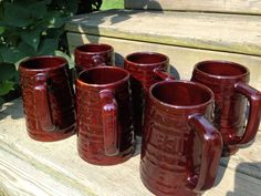 Vintage USA Marcrest Mugs set of 6 Daisy Dot Design on Etsy, $39.95. Love'm!! Iced tea. Cold water. Hot coco.  Just love'm. (Never to be used as travel mugs.)