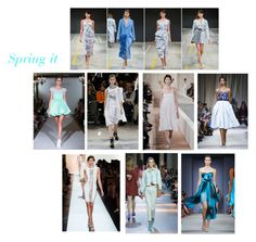"""""""Spring It"""" by cat-forsley ❤ liked on Polyvore featuring Ruban, Oscar de la Renta, runway and spring2016"""