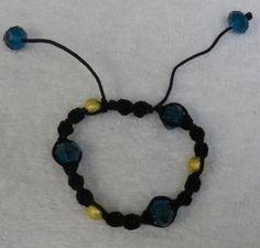 Teal / Aqua / Light Blue Faceted Rondelle / Gold by lanesamarie