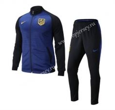 2016-17 Atletico Madrid Blue Thailand Soccer Jacket Uniform