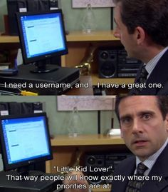 """When Michael Scott signed up for an online dating service: 23 Moments From """"The Office"""" That'll Probably Be Funny For The Rest Of Your Life The Office, Office Icon, Tv Quotes, Funny Quotes, Movie Quotes, Dating Quotes, Best Michael Scott Quotes, Funny Celebrity Pics, Celebrity Videos"""