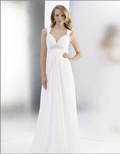 5cabf30d446d free shipping chiffon a line sweetheart beaded empire waist Cap sleeve  delicately grace deep v back zipper closure wedding dress-in Wedding Dresses  from ...