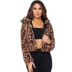 Heading Into Fall Fast Faux Fur Hooded Coat, Fur Coat, Leopard Jacket, Navy Color, Coat Dress, Vintage Shops, Fashion Art, Casual, Fall