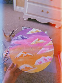 painting ideas on canvas aesthetic vsco * painting ideas on canvas Cute Canvas Paintings, Mini Canvas Art, Diy Canvas, Easy Paintings, Art Hoe Aesthetic, Aesthetic Painting, Record Wall Art, Vynil, Trippy Painting