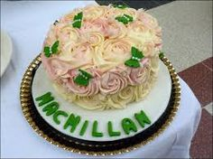 Macmillan Large Cake with Rose and Butterfly