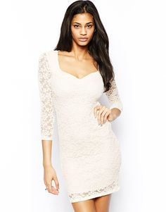 ASOS Sweetheart Lace Mini Bodycon Dress