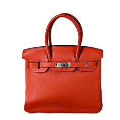 "Hermes Red 30cm ""Birkin"" Bag"