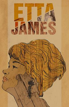 Etta James Poster  Limited Edition of 100 by dosecreative on Etsy