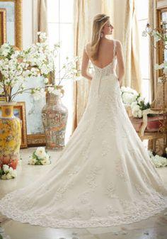b66843090dd6 Dreamy Lace on Tulle with Scalloped Hemline | Style 2890 | Morilee Wedding  Dress Backs,