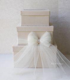 Wedding Card box Money Box Rhinestones around by jamiekimdesigns, $109.00