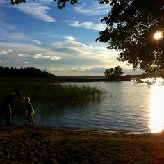 Lohja's lake, Finland