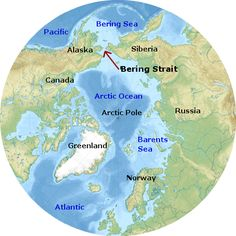 Bering strait map 4 historians ss pinterest social bering strait and the bering land bridge click to see the strait fall dry when sea gumiabroncs Choice Image