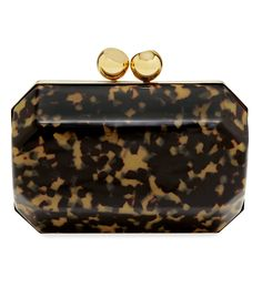 Shop the August issue of BAZAAR at #ShopBAZAAR - Stella McCartney Plexi Tortoise Shell Box Clutch