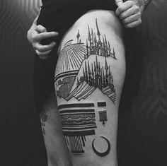 Os desenhos se complementam quando observados juntos nas pernas ou nas mãos (Imagem: Reprodução/Thieves of Towers )