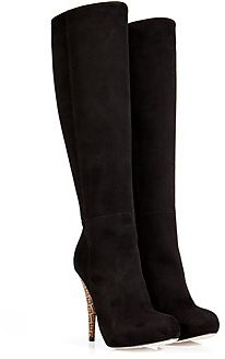 Fendi Suede Boots in Black I love high boots