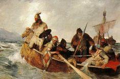 enchantedsleeper:  Vikings off Iceland, Oscar Wergeland