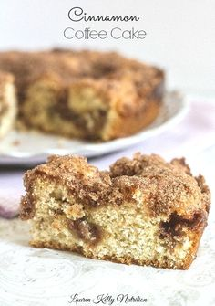 Cinnamon Coffee Cake from The Greek Yogurt Cookbook ~ Lauren Kelly Nutrition #greekyogurt