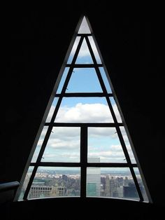 Completed in 1930 in New York, United States. In a skyline that has developed New York as a destination for architects and city lovers alike, the Chrysler Building by William Van Alen is. Chrysler Building, Architecture Design, Historic Architecture, Window View, Gable Window, Building Art, Through The Window, Window Design, Art Deco Design