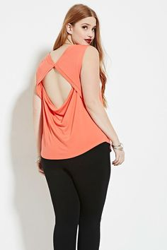 4e81ec0758881 Forever 21+ - A sleeveless stretch knit top complete with a cutout-back  design