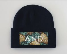 pineandapple beanie by and clothing