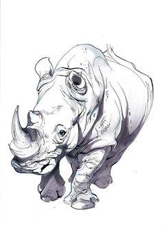 Pin by will gordan on rhino rhino tattoo, rhino art, illustration art. Animal Sketches, Animal Drawings, Drawing Sketches, Art Drawings, Pencil Drawings, African Rhino, African Animals, African Safari, Rhino Tattoo