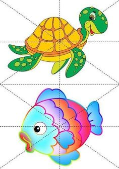 puzzle animali Esl Learning, Toddler Learning Activities, Learning Time, Preschool Activities, Preschool Centers, Diy Back To School, Pre School, Drawing For Kids, Art For Kids