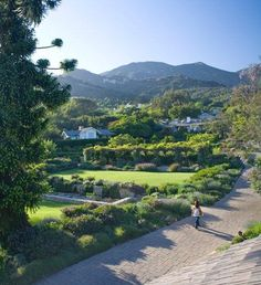 San Ysidro Ranch in Santa Barbara, CA.  Beautiful and romantic...This is where JFK and Jackie stayed for their honeymoon. Great place for dinner and a glass of wine!