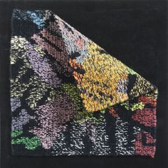 Unfolding handwoven tapestry Collection of Noella Kyser, Toronto, Canada Small Tapestry, Tapestry Weaving, Fiber Art, Hand Weaving, Toronto Canada, Tapestries, Ideas, Collection, Hanging Tapestry