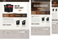 Crickle Creek Website - coffee web design, responsive design