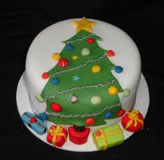Christmas Cake Designs, Christmas Tree Cake, Christmas Cake Decorations, Christmas Cupcakes, Christmas Sweets, Holiday Cakes, Christmas Cooking, Noel Christmas, Xmas Cakes