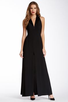 Jill Jill Stuart Sleeveless Tuxedo Collar Gown by Jill Stuart on @nordstrom_rack