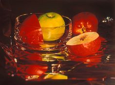 Glassy Apples by Mary Pratt - My favorite painting - I saw it at the Lord Beaverbrook in Fredericton and fell in love with it. Canadian Painters, Canadian Artists, Mary Pratt, Art For Art Sake, Realism Art, Native Art, Artist At Work, Art Education, Contemporary Artists