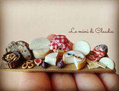"718 Likes, 7 Comments - Le Mini Di Claudia (@leminidiclaudia) on Instagram: ""Cheese!!! #dollshouseminiatures #leminidiclaudia #dollhouseminiature #miniaturefood…"""