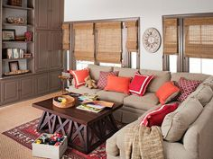 Who wouldn't want to relax, play, or nap in this all-purpose family room? #hgtvmagazine http://www.hgtv.com/decorating-basics/classic-decorating-youll-love-forever/pictures/page-6.html?soc=pinterest#