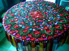 Modern Folk Embroidery Matyó big table cover with rich hand embroidery - Handmade embroidered and colorful fringed Matyó big table cover with rich, colorful Hungarian Embroidery, Folk Embroidery, Learn Embroidery, Hand Embroidery Stitches, Embroidery Techniques, Embroidery Patterns, Floral Embroidery, Textiles, Table Covers
