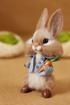 Peter Rabbit ( Made to order) Baby Animals Super Cute, Cute Baby Bunnies, Cute Stuffed Animals, Cute Little Animals, Cute Funny Animals, Bunny Bunny, Baby Animals Pictures, Cute Animal Drawings, Cute Animal Pictures