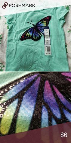 NWT Falls Creek Kids Sequin Butterfly tshirt NWT Falls Creek Kids Sequin Butterfly tshirt, embroidered Falls Creek Kids Shirts & Tops Tees - Short Sleeve
