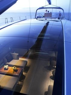 .....topping it off is glass with a view to the lower deck! awesome!