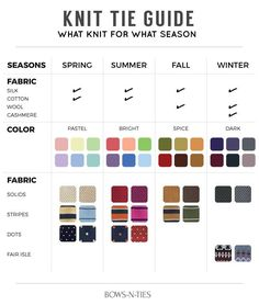 Your Knit Tie Guide for Seasons