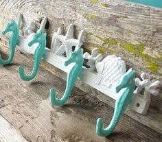 Seahorse Hook - Nautical Decor - Beach House Decor- Coastal Decor- Sea Hook Hanger/ Wedding interior design 2012 designs decorating before and after design ideas