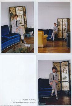 Niels Schneider in Purple Fashion magazine Photographed by Giasco Bertoli