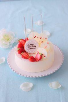 Birthday rare cheese cake