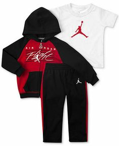 455093e8438600 Jordan Baby Boys  3-Piece Hoodie